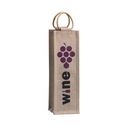 Single Bottle Wine Tote Bags Custom Imprinted Wholesale