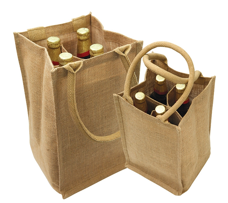 4 Bottle Wine Bag W Cotton Handles