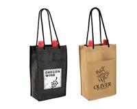 24b800b35b 2 Bottle Wine Tote Bags - Custom Imprinted Wholesale Options