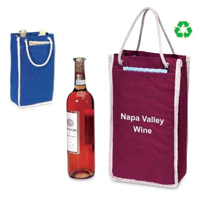 2 Bottle Premium Canvas Tote Winebags Com